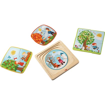 "HABA Wooden Puzzle ""My Time of Year"" - Imagen grande"