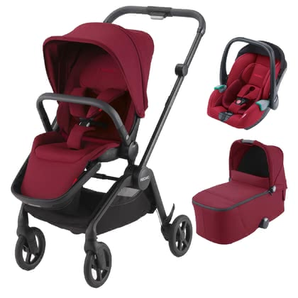 Recaro Sadena 3-in-1 Travel-System  Select Garnet Red 2020 - Großbild