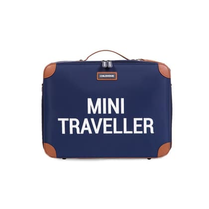 "Childhome Kinderkoffer ""Mini Traveller"" - On the journey, ready, off: With the Mini Traveller from Childhome, your child has his own luggage for the first trips to the mountains, to the sea or to..."