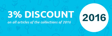 3% discount on all articles of the collections of 2016