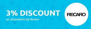 3% discount on all products by Recaro