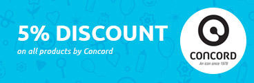 5% discount on all products by Concord