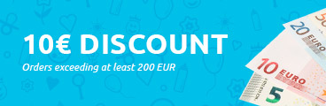 10,00€ discount for orders exceeding at least 200 EUR